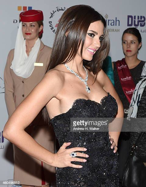 Actress Dorra attends the 'Cairo Time' premiere during day six of the 11th Annual Dubai International Film Festival held at the Madinat Jumeriah...