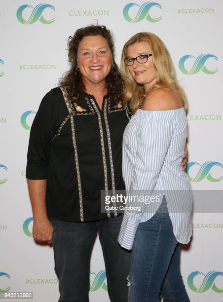Actress Dot Marie Jones and her wife Bridgett Casteen attend the Cocktails for Change fundraiser hosted by ClexaCon to benefit Cyndi Lauper's True...