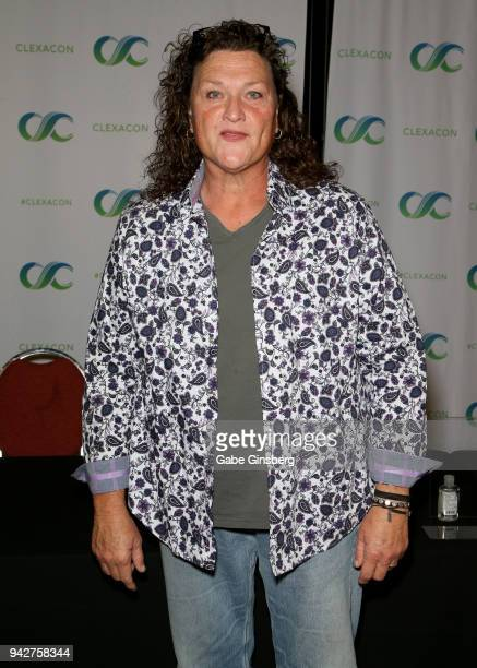 Actress Dot Marie Jones attends the ClexaCon 2018 convention at the Tropicana Las Vegas on April 6, 2018 in Las Vegas, Nevada.