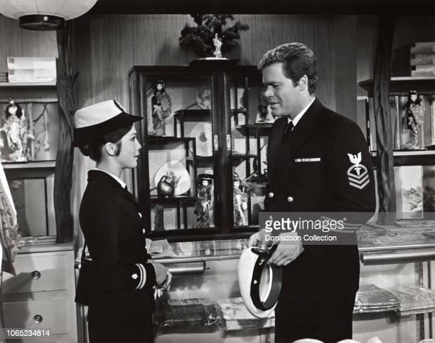 Actress Doug McClure Nancy Kwan in a scene from the movie Nobody's Perfect