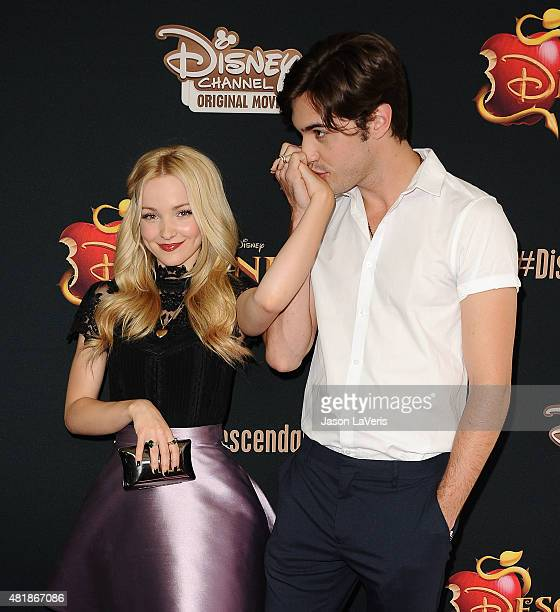 Actress Dove Cameron and Ryan McCartan attend the premiere of 'Descendants' at Walt Disney Studios Main Theater on July 24 2015 in Burbank California