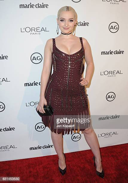 Actress Dove Cameron arrives at Marie Claire's Image Maker Awards 2017 at Catch LA on January 10 2017 in West Hollywood California