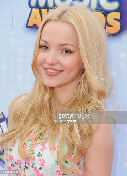 Actress Dove Cameron arrives at the 2015 Radio Disney Music Awards at Nokia Theatre LA Live on April 25 2015 in Los Angeles California