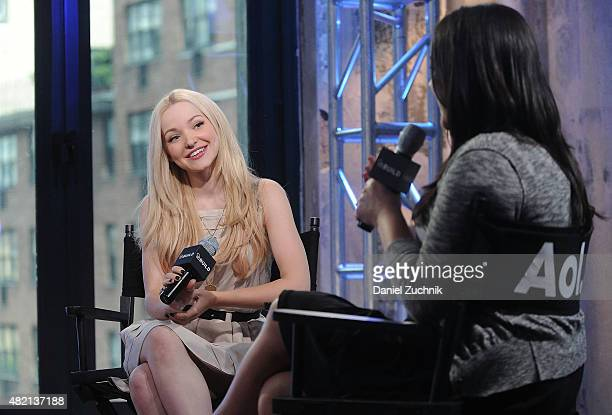 Actress Dove Cameron attends AOL Build to discuss her new film 'Descendants' at AOL Studios on July 27 2015 In New York City