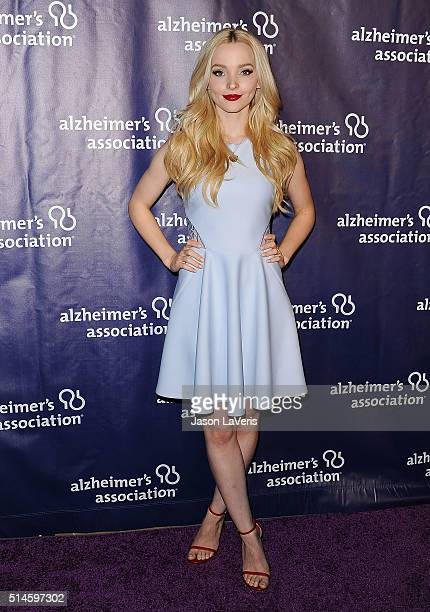 Actress Dove Cameron attends the 2016 Alzheimer's Association's 'A Night At Sardi's' at The Beverly Hilton Hotel on March 9 2016 in Beverly Hills...