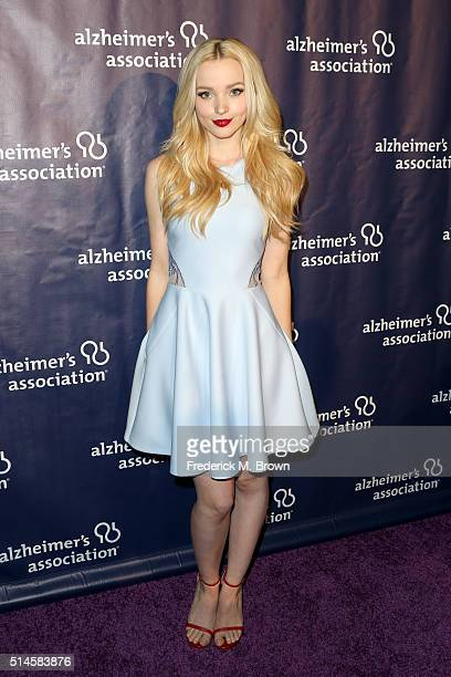 Actress Dove Cameron attends the 24th and final 'A Night at Sardi's' to benefit the Alzheimer's Association at The Beverly Hilton Hotel on March 9...