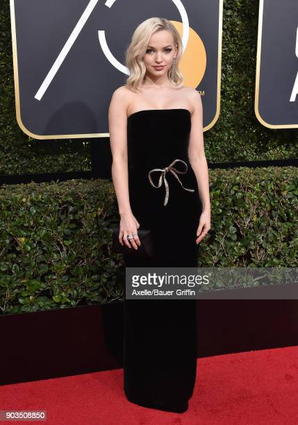 Actress Dove Cameron attends the 75th Annual Golden Globe Awards at The Beverly Hilton Hotel on January 7 2018 in Beverly Hills California