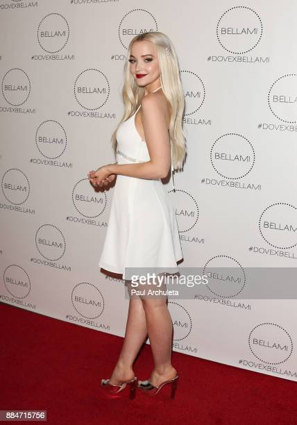 Actress Dove Cameron attends the launch party for the Dove x BELLAMI collection at Unici Casa Gallery on December 2 2017 in Culver City California