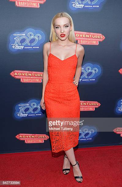 Actress Dove Cameron attends the premiere of 100th Disney Channel's Original Movie 'Adventures In Babysitting' and celebration of all DCOMS at...