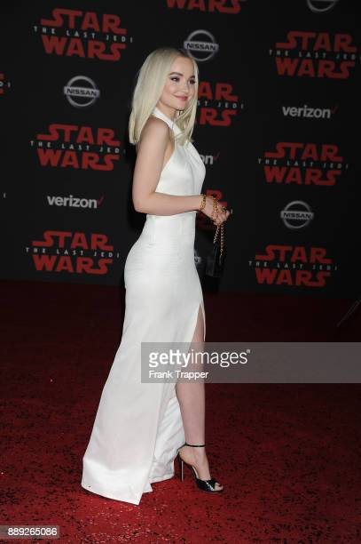 Actress Dove Cameron attends the premiere of Disney Pictures and Lucasfilm's 'Star Wars The Last Jedi' held at The Shrine Auditorium on December 9...