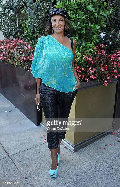 """Actress Downtown Julie Brown arrives at the premiere of """"Sharknado 3: Oh Hell No!"""" at iPic Theaters on July 22, 2015 in Los Angeles, California."""
