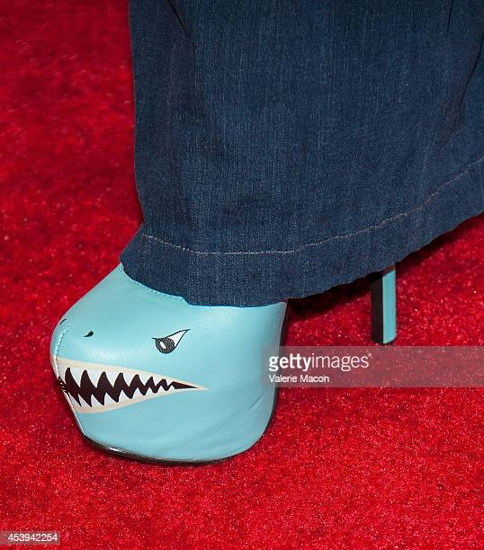 """Actress Downtown Julie Brown arrives at the Premiere Of The Asylum & Fathom Events' """"Sharknado 2: The Second One"""" at Regal Cinemas L.A. Live on..."""