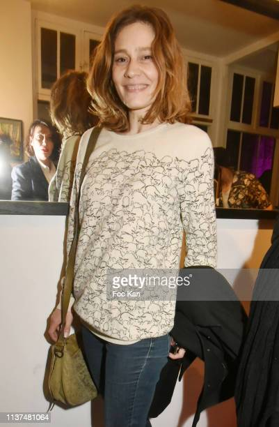 Actress Draghixa attends 'The French Touch from A to Z' Gilles Petipas Photo Exhibition Party at 14 Rue Vertbois Gallery on March 21, 2019 in Paris,...