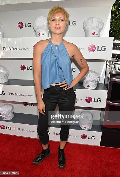 Actress Dre Davis attends Eva Longoria and LG Electronics Host 'Fam To Table' Series at The Washbow on August 22 2015 in Culver City California
