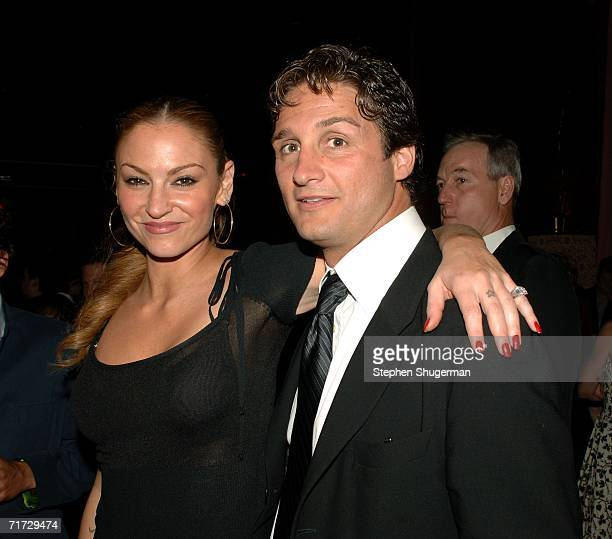 Actress Drea de Matteo and guest attend the HBO Post Emmy Party held at The Plaza at the Pacific Design Center on August 27, 2006 in West Hollywood,...
