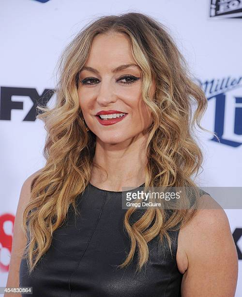 Actress Drea de Matteo arrives at FX's Sons Of Anarchy premiere at TCL Chinese Theatre on September 6 2014 in Hollywood California