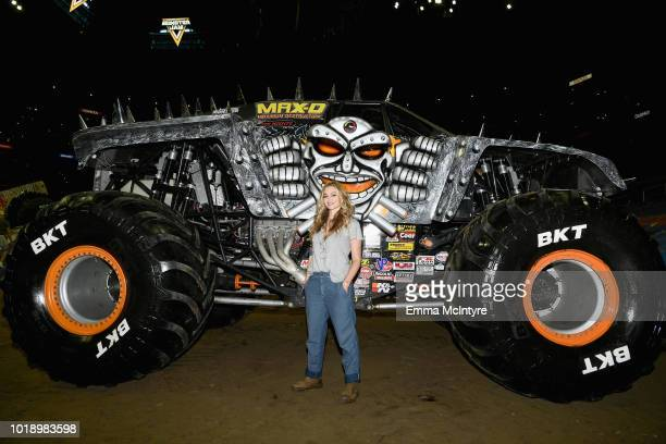 Actress Drea de Matteo attends Monster Jam at STAPLES Center on Saturday August 18 2018 in Los Angeles CA