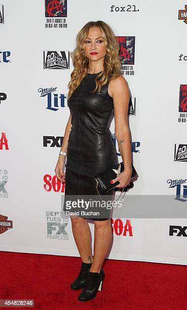Actress Drea De Matteo attends the Premiere Screening Of FX's Sons Of Anarchy at TCL Chinese Theatre on September 6 2014 in Hollywood California