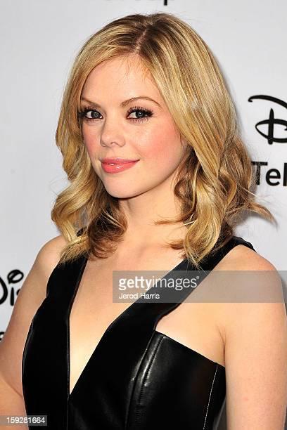 Actress Dreama Walker arrives at Disney ABC Television's red carpet gala at the Langham Huntington Hotel and Spa on January 10 2013 in Pasadena...