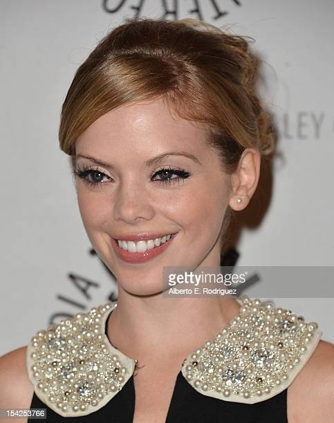 Actress Dreama Walker arrives to The Paley Center For Media's An Evening With Happy Endings and Don't Trust the B In Apartment 23 at The Paley Center...