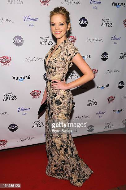 Actress Dreama Walker attends the premiere party for 'Don't Trust The B In Apt 23' hosted by New York Magazine and Vulture at Toro Lounge at Plein...