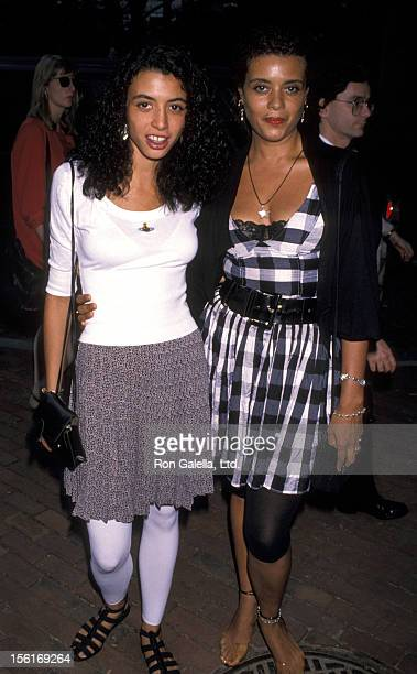 Actress Dreena Deniro and Diane Abbott attend Crystal Apple Awards on July 30 1990 at Gracie Mansion in New York City