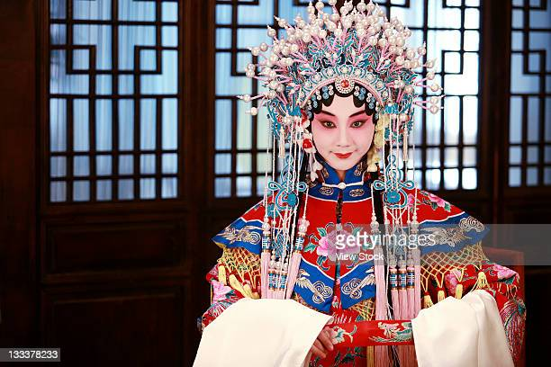 actress dressing as beijing opera characters,china - beijing opera stock photos and pictures