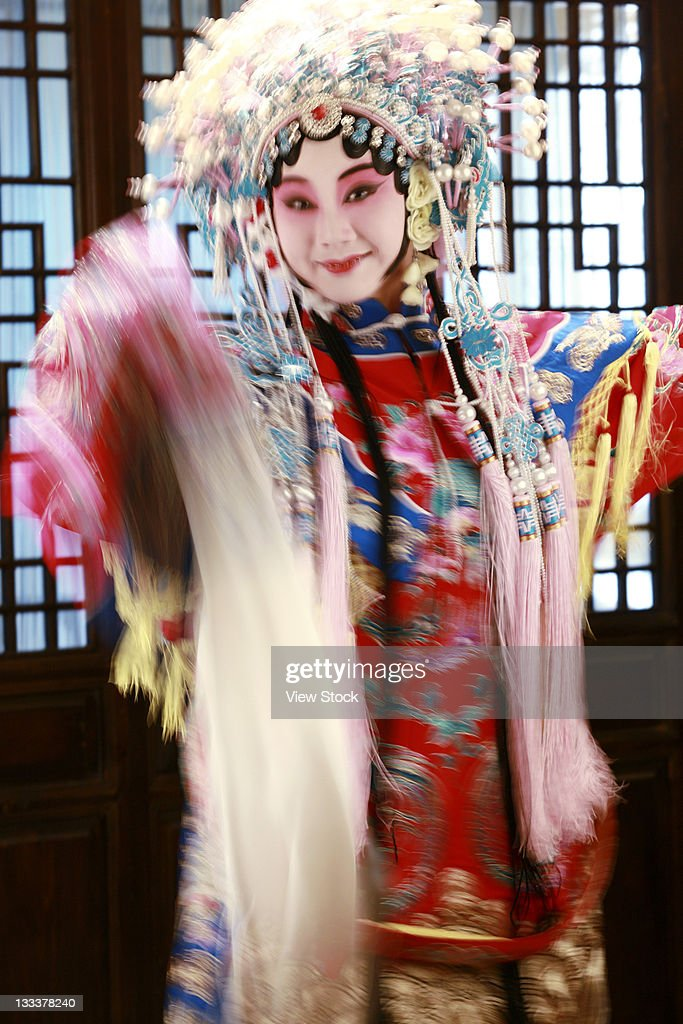 Actress Dressing As Beijing Opera Characters,China : Stock Photo
