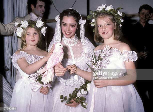Actress Drew Barrymore actress Kathleen Beller and Katy Kass attend the Young Musicians Foundation's Third Annual Celebrity Mother/Daughter Fashion...