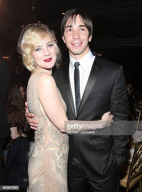 Actress Drew Barrymore and actor Justin Long attend the after party for HBO Films 'Grey Gardens'at the Pierre on April 14 2009 in New York City