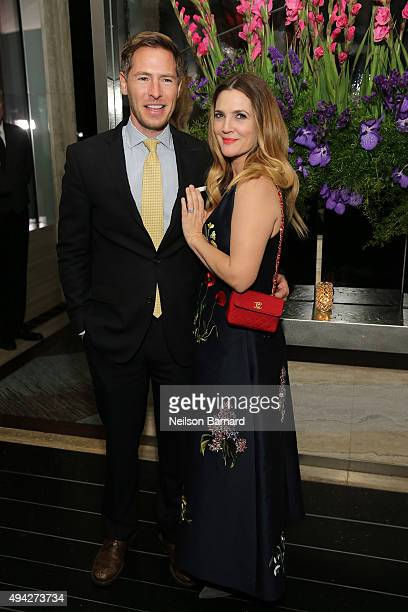 Actress Drew Barrymore and husband Will Kopelman attend the Montblanc The Cinema Society screening of Roadside Attractions Lionsgate's 'Miss You...