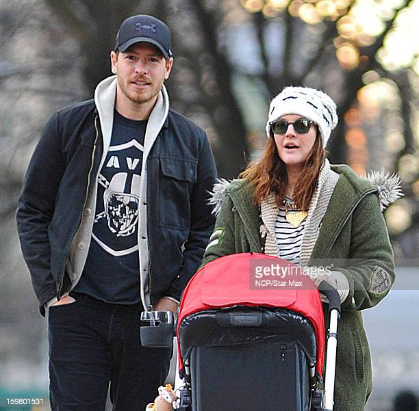 Actress Drew Barrymore and Will Kopelman as seen on January 20 2013 in New York City