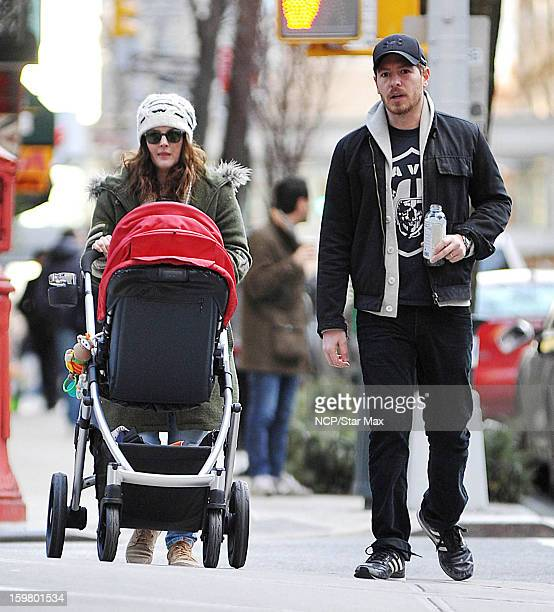 Actress Drew Barrymore and Will Kopelman as seen on January 20, 2013 in New York City.
