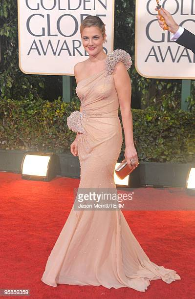 Actress Drew Barrymore arrives at the 67th Annual Golden Globe Awards held at The Beverly Hilton Hotel on January 17 2010 in Beverly Hills California