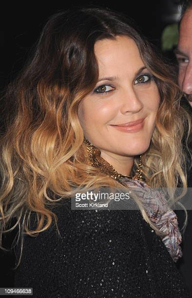 Actress Drew Barrymore arrives at the Chanel Charles Finch PreOscar Dinner Celebrating Fashion Film at Madeo Restaurant on February 26 2011 in Los...