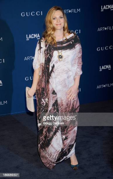 Actress Drew Barrymore arrives at the LACMA 2013 Art Film Gala at LACMA on November 2 2013 in Los Angeles California