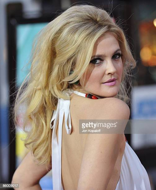 Actress Drew Barrymore arrives at the Los Angeles Premiere Grey Gardens at the Grauman's Chinese Theater on April 16 2009 in Hollywood California