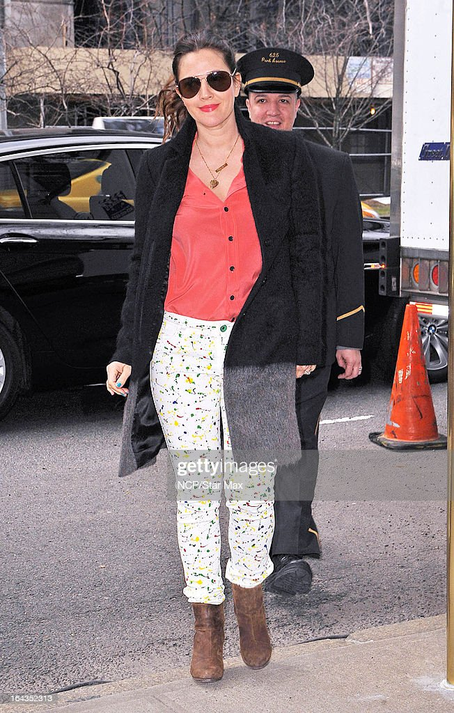 Actress Drew Barrymore as seen on March 22, 2013 in New York City.