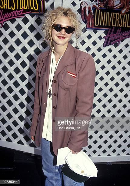 Actress Drew Barrymore attend the ET Adventure Ride Grand Opening Celebration on June 1 1991 at Universal Studios Hollywood in Universal City...