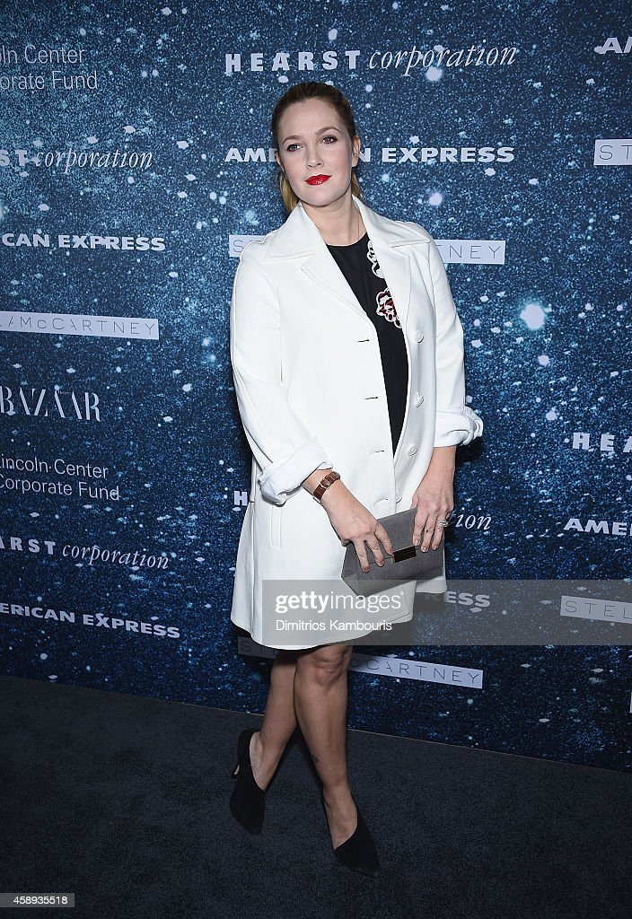 Actress Drew Barrymore attends 2014 Women's Leadership Award Honoring Stella McCartney at Alice Tully Hall at Lincoln Center on November 13, 2014 in New York City.