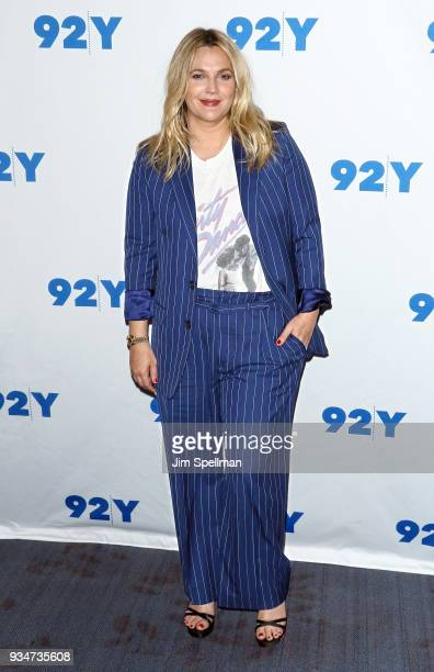 Actress Drew Barrymore attends a conversation with Vanity Fair's Mike Hogan at Kaufman Concert Hall on March 19 2018 in New York City