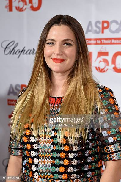 Actress Drew Barrymore attends ASPCA 19th Annual Bergh Ball honoring Drew Barrymore hosted by Nathan Lane wiith music by Mark Ronson at the Plaza...