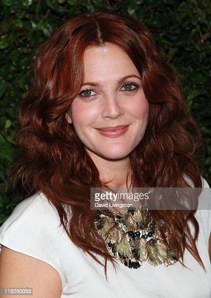 Actress Drew Barrymore attends Chanel's benefit dinner for the Natural Resources Defense Council's Ocean Initiative at the home of Ron Kelly Meyer on...