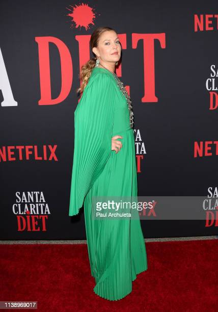 Actress Drew Barrymore attends Netflix's Santa Clarita Diet season 3 premiere at Hollywood Post 43 on March 28 2019 in Los Angeles California