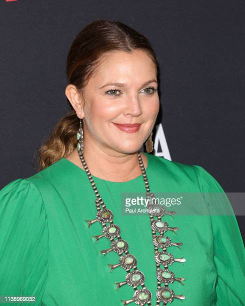 """Actress Drew Barrymore attends Netflix's """"Santa Clarita Diet"""" season 3 premiere at Hollywood Post 43 on March 28, 2019 in Los Angeles, California."""