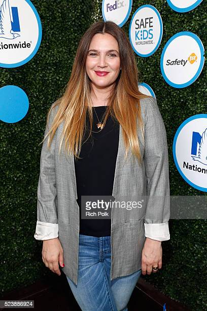 Actress Drew Barrymore attends Safe Kids Day 2016 presented by Nationwide at Smashbox Studios on April 24 2016 in Los Angeles California