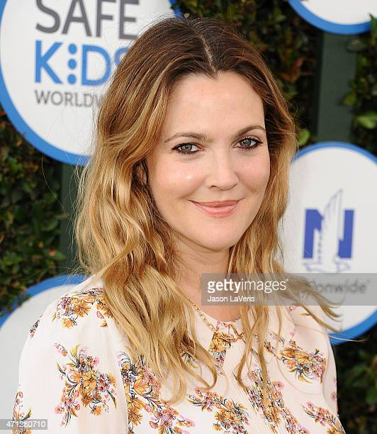 Actress Drew Barrymore attends Safe Kids Day at The Lot on April 26 2015 in West Hollywood California