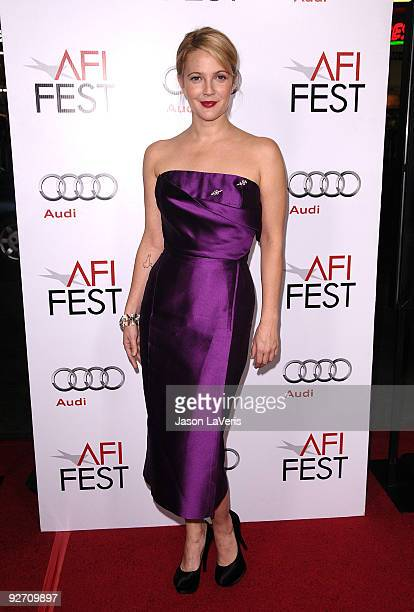 "Actress Drew Barrymore attends the 2009 AFI Fest screening of ""Everybody's Fine"" at Grauman's Chinese Theatre on November 3, 2009 in Hollywood,..."