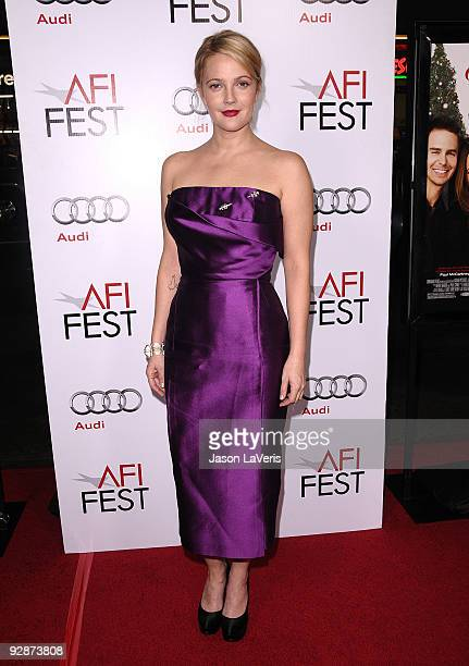 """Actress Drew Barrymore attends the 2009 AFI Fest screening of """"Everybody's Fine"""" at Grauman's Chinese Theatre on November 3, 2009 in Hollywood,..."""