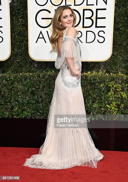 Actress Drew Barrymore attends the 74th Annual Golden Globe Awards at The Beverly Hilton Hotel on January 8, 2017 in Beverly Hills, California.